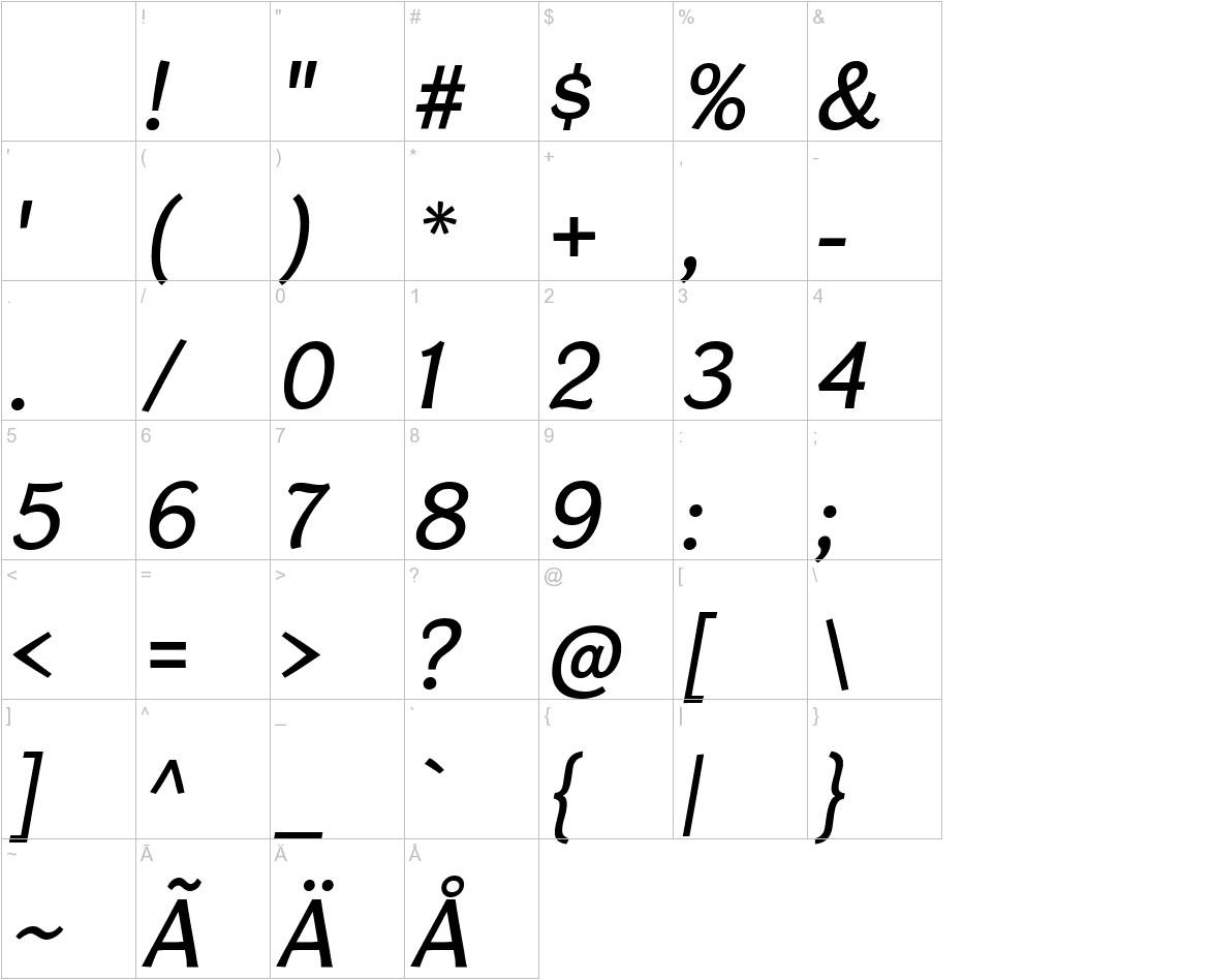 CardiganTitlingRg-Italic characters
