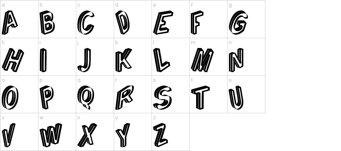 Cargante tfb lowercase