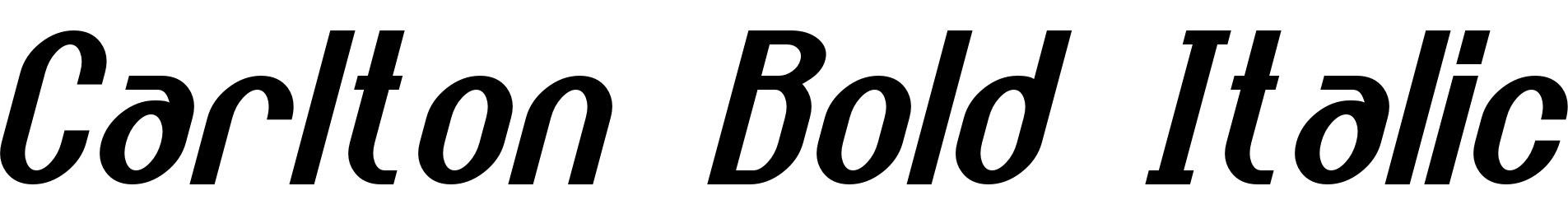 Carlton Bold Italic