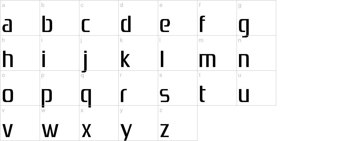 Zrnic lowercase