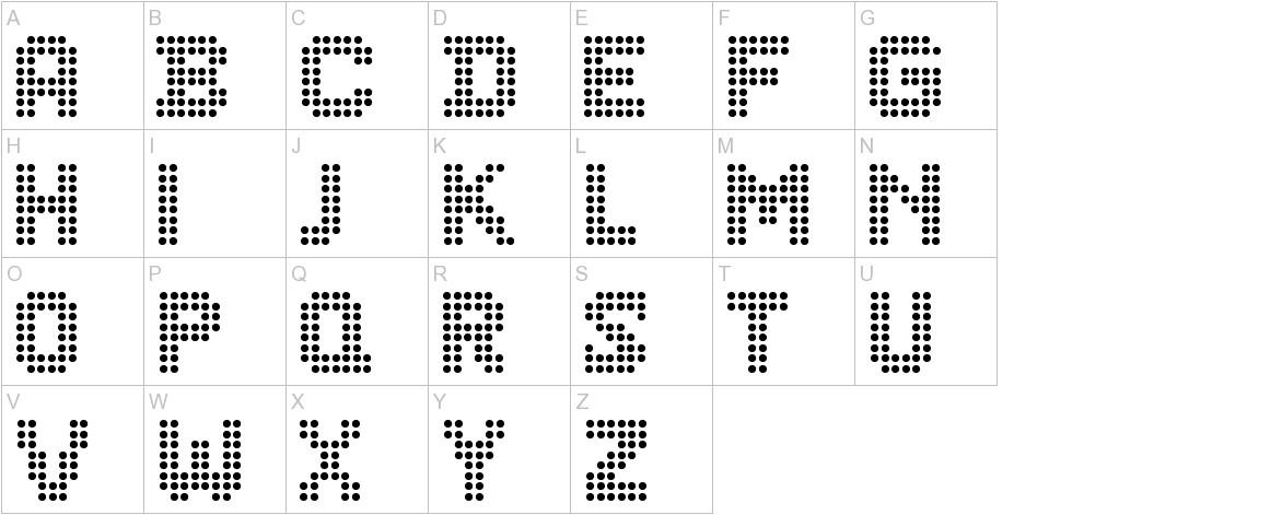 CF Dots 521 uppercase