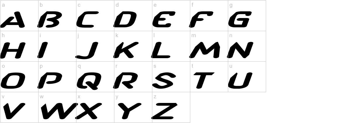 CF TechnoRama Slanted lowercase