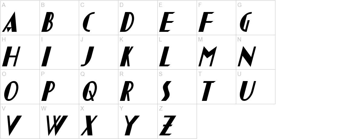 Chapleau Bold Italic uppercase