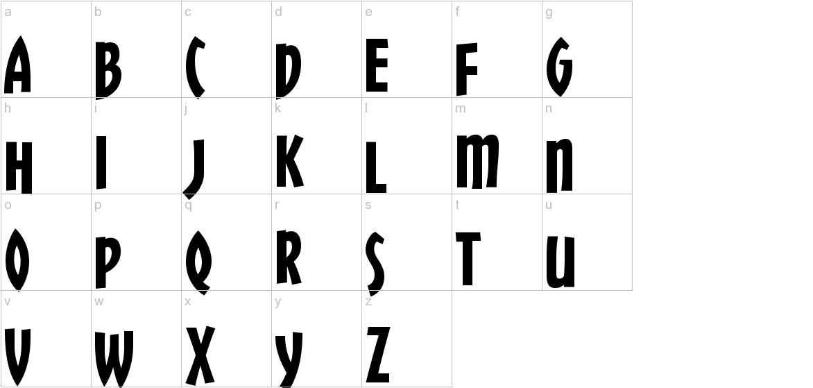 ChickweedTitling-Regular lowercase