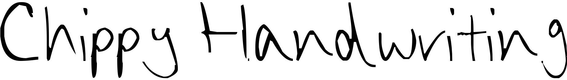Chippy Handwriting