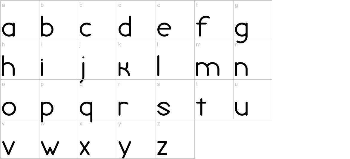 Chivilcoyana Regular Beta lowercase