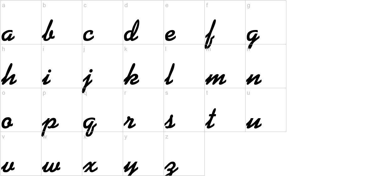 Alako-Bold lowercase