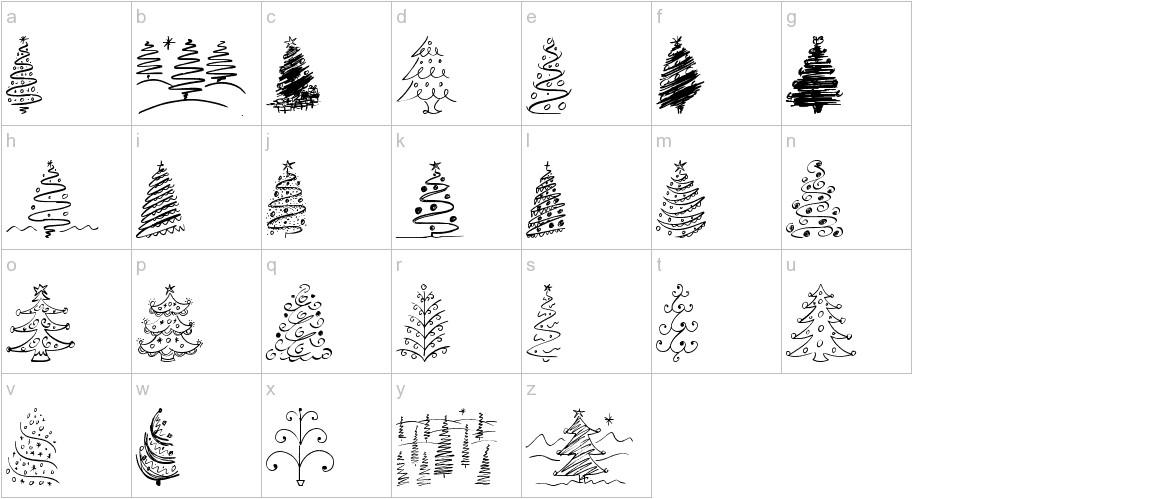 Christmas Trees Celebration lowercase