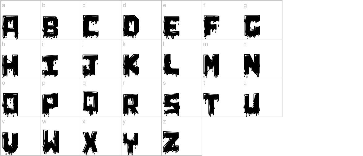 Chunq Dipped lowercase