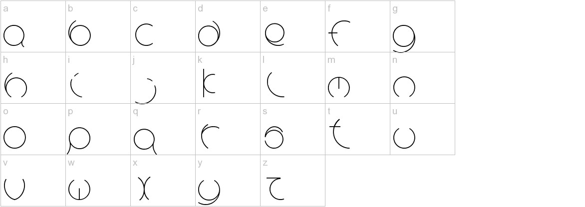 Circle Light lowercase