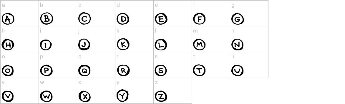 CircleCaps lowercase