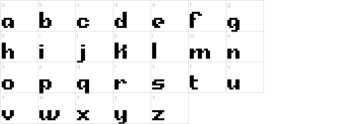Alpha Beta BRK lowercase