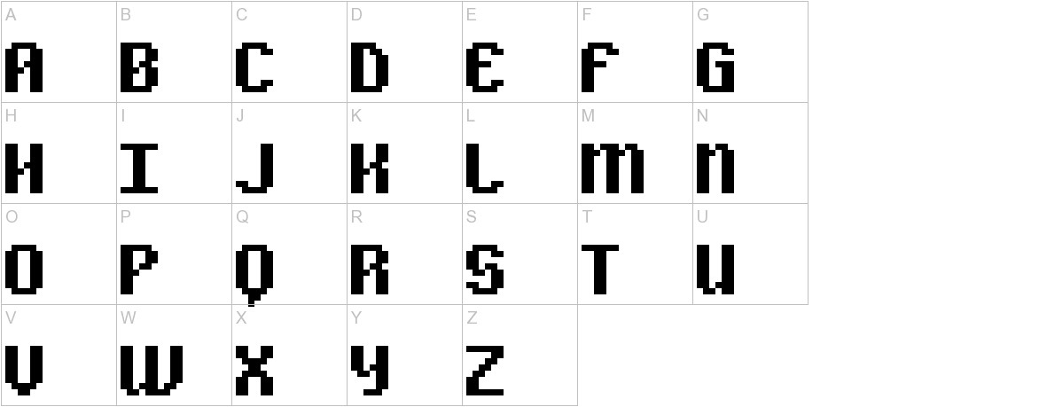 Alpha Beta BRK uppercase