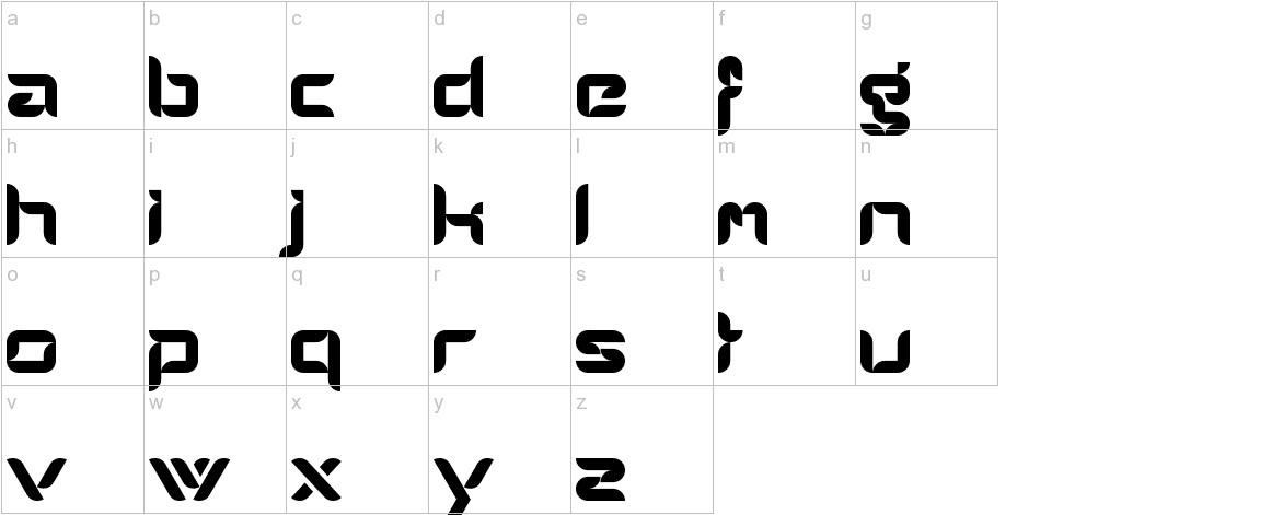 AlphaMaleModern lowercase