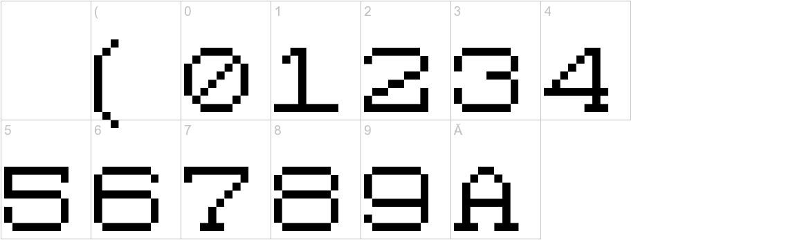 Code 8x8 characters