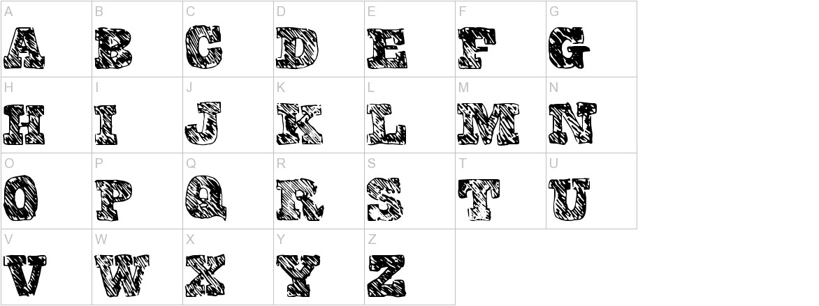 CollegeScribble uppercase