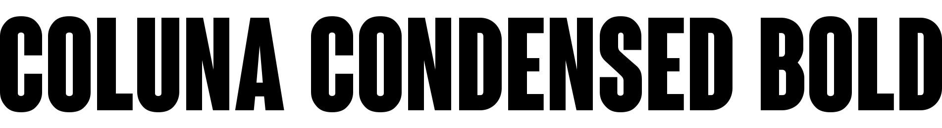 Coluna Condensed Bold