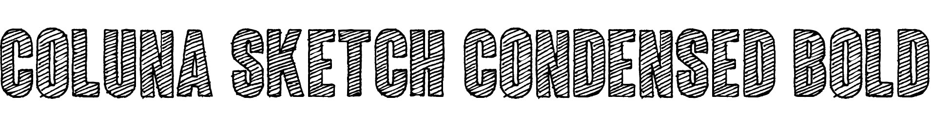 Coluna Sketch Condensed Bold