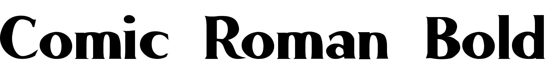 Comic Roman Bold