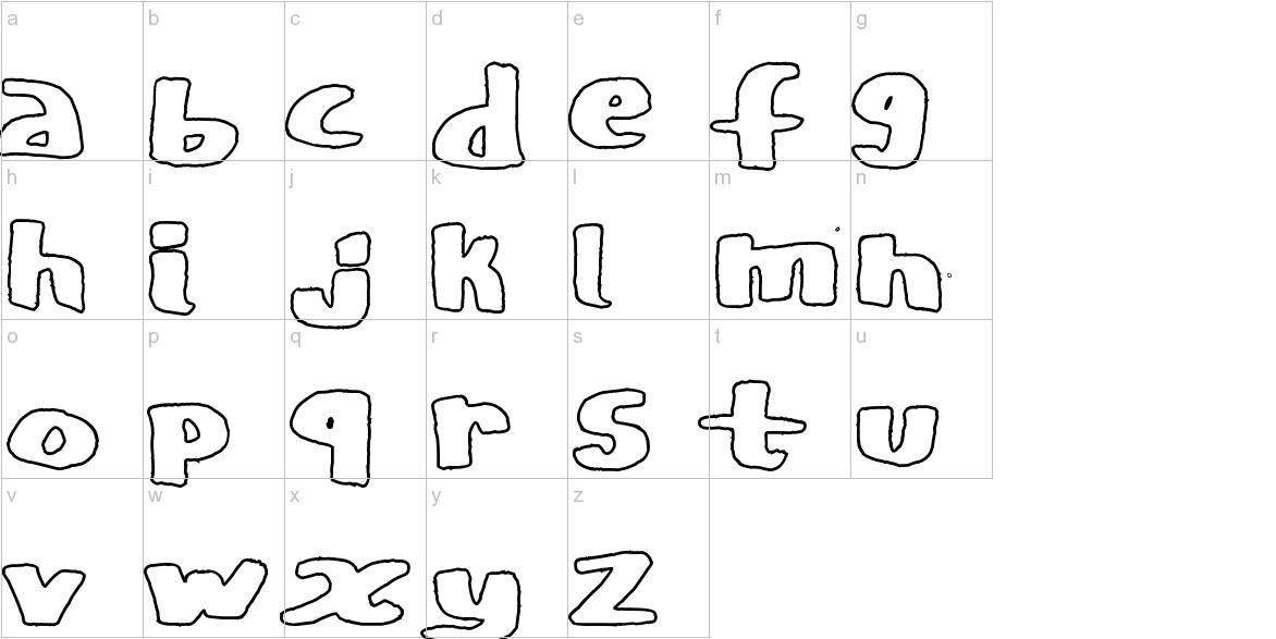 CopyStand hollow lowercase