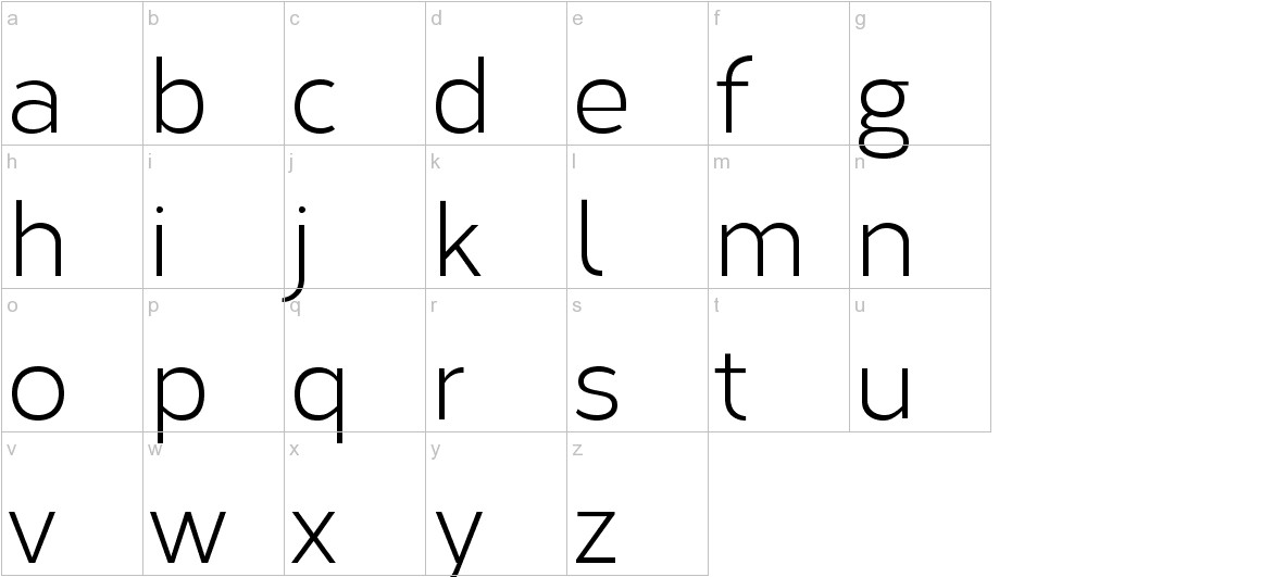 Corbert lowercase