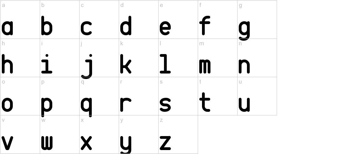 CQ Mono lowercase