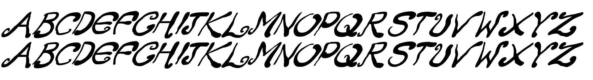 Creepy Scrawly Italic