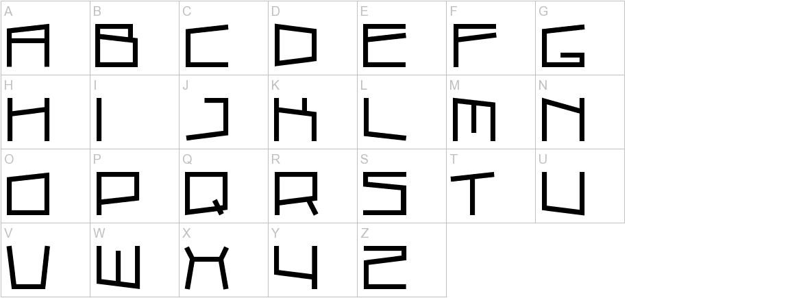 Cubic Sub uppercase
