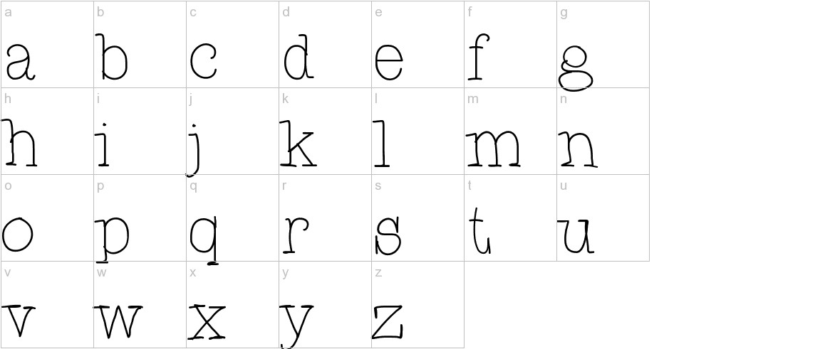 CupcakeFont lowercase