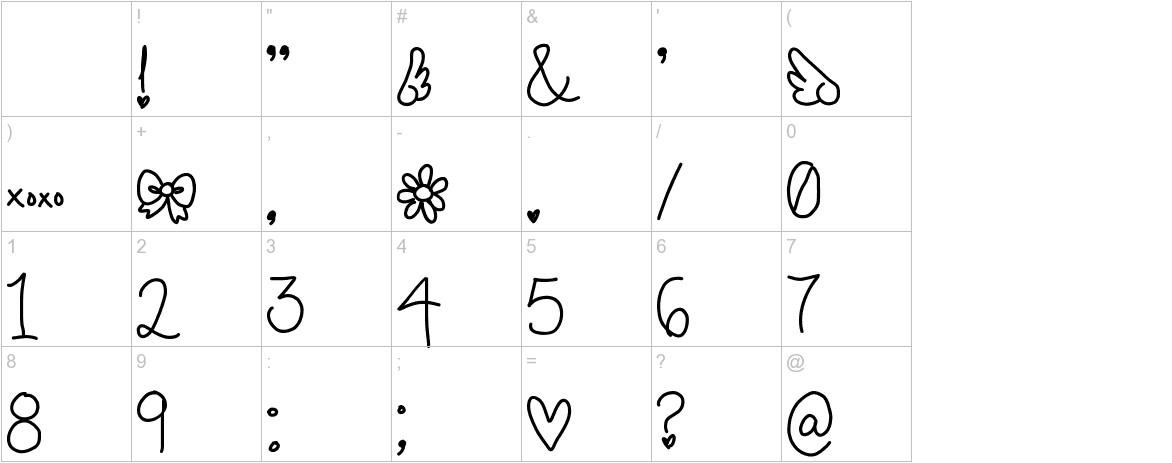 cursive characters