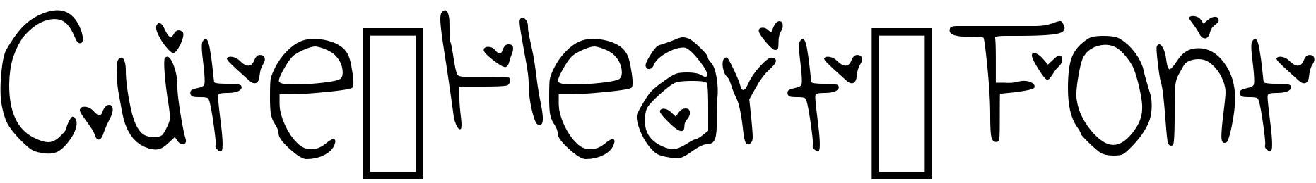 Cute_Heart_Font