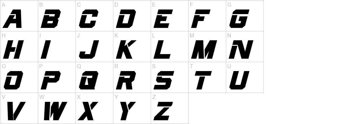 Cyberfall Italic uppercase