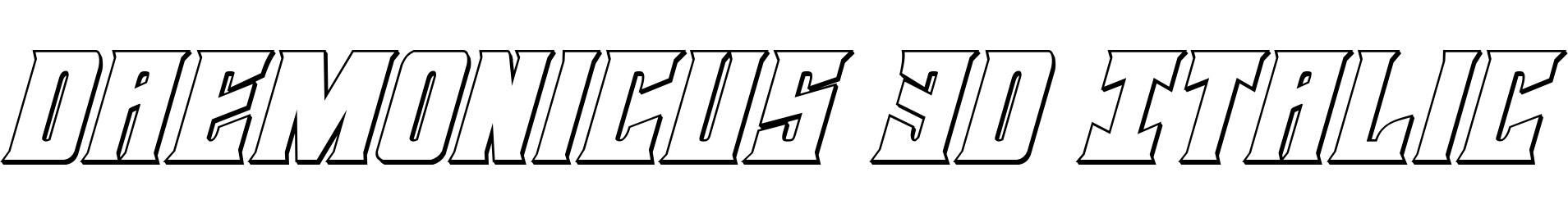 Daemonicus 3D Italic