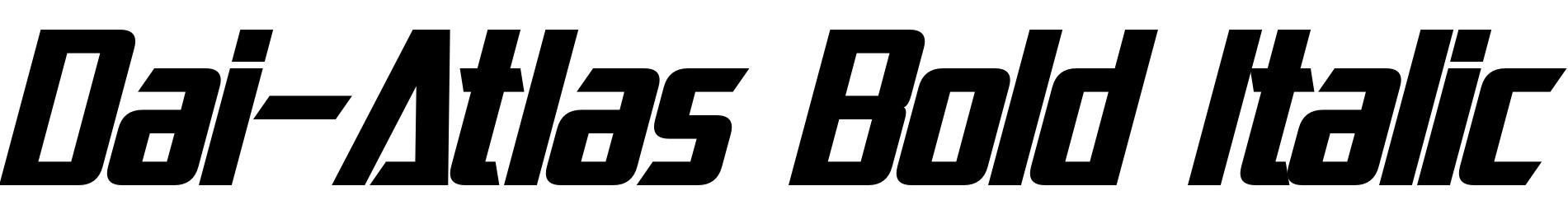 Dai-Atlas Bold Italic