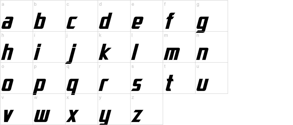 Dai-Atlas Bold Italic lowercase