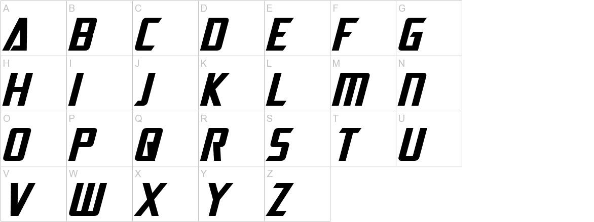 Dai-Atlas Bold Italic uppercase