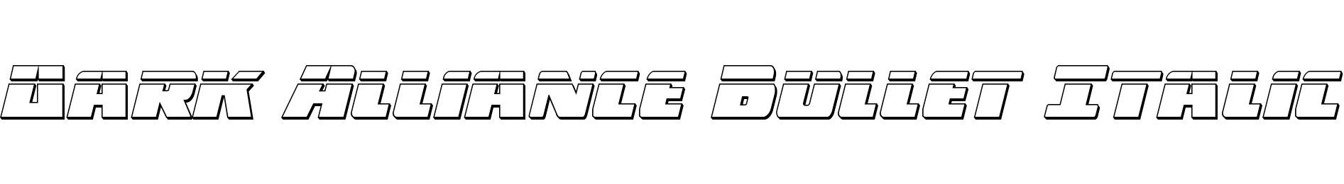 Dark Alliance Bullet Italic