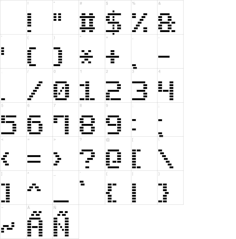 Dash Digital-7 characters