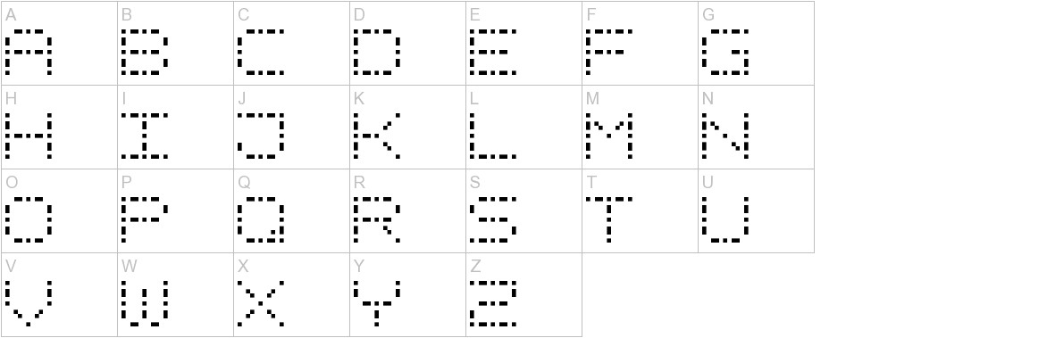 Dash Dot Square-7 uppercase