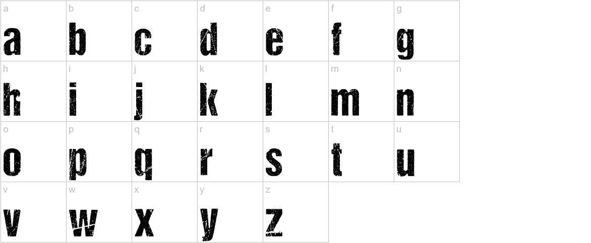 DCC - Ash lowercase