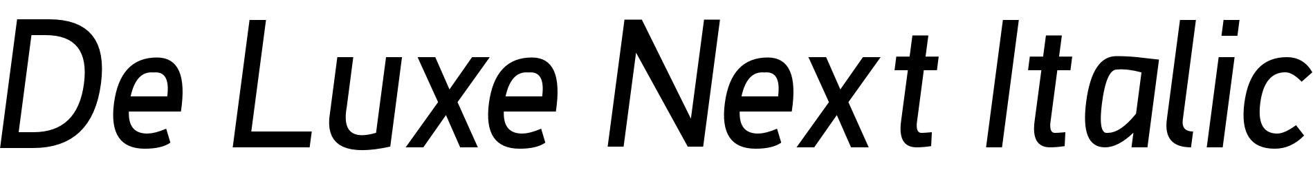 De Luxe Next Italic