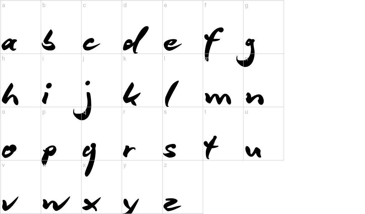 DeBorstel Brush Reduced lowercase