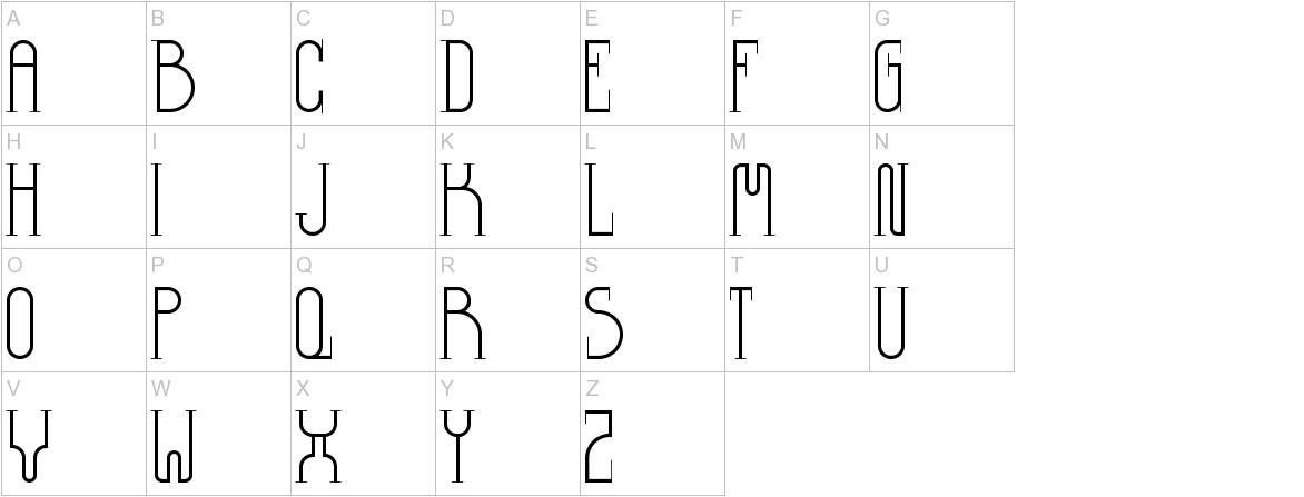 Democrazy Serif Light uppercase