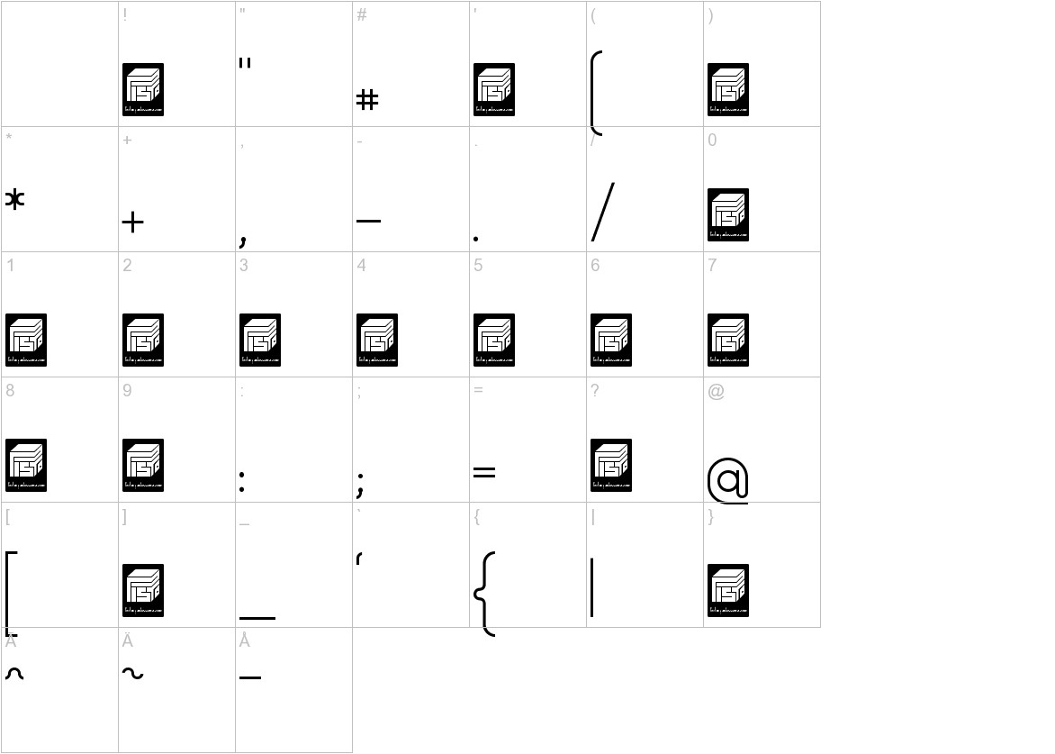 Democrazy Serif Light characters