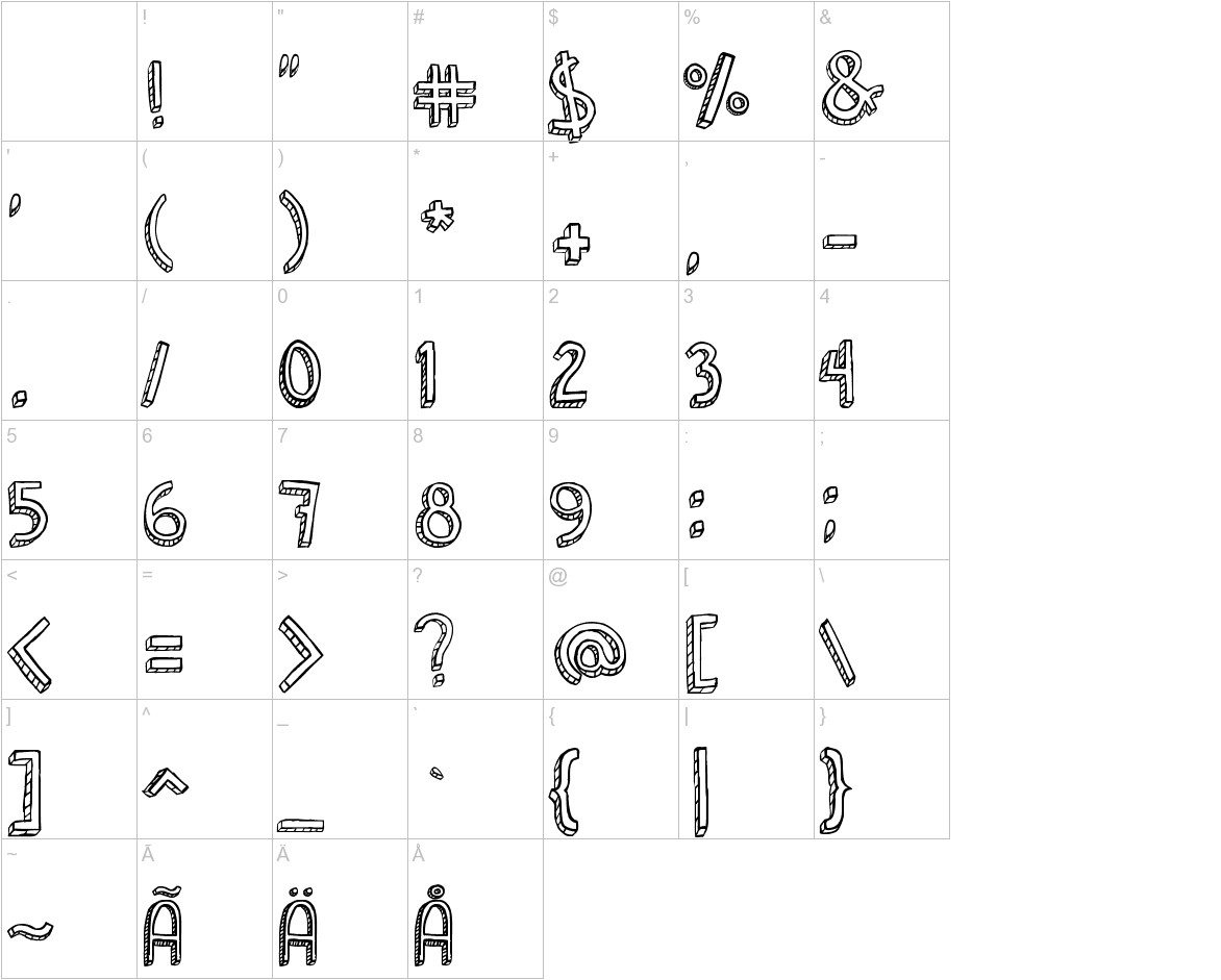Denne Shuffle Euro Hollow characters