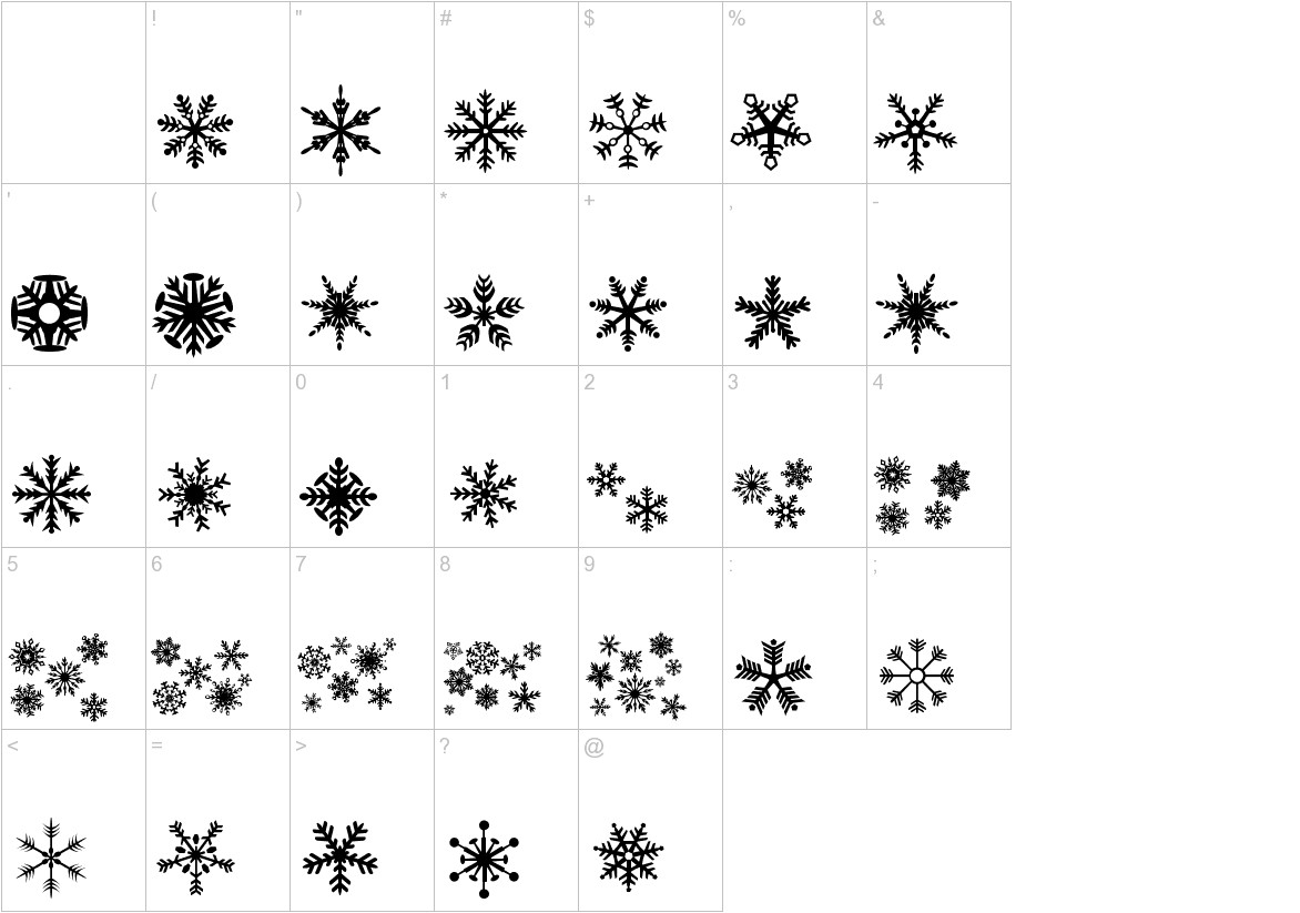 DH Snowflakes characters