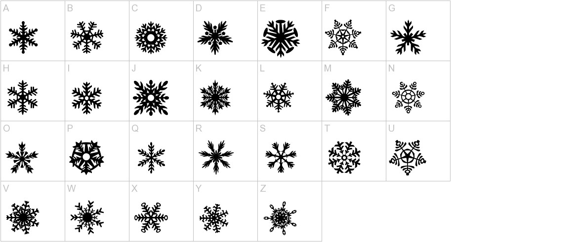 DH Snowflakes uppercase