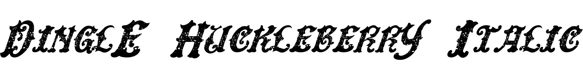 DinglE HuckleberrY Italic