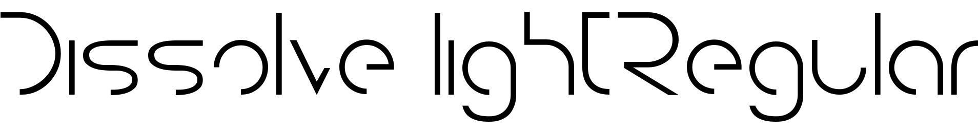 Dissolve lightRegular