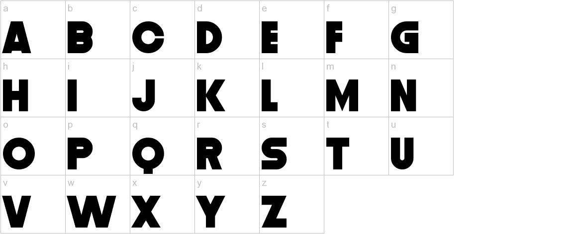Distortion Dos Digital lowercase